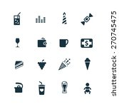 cafe icons set on white... | Shutterstock . vector #270745475