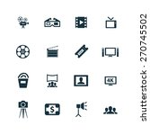 cinema icons set on white... | Shutterstock . vector #270745502