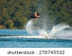 a wakeskater launches off the... | Shutterstock . vector #270745532