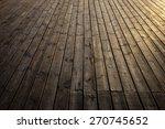 Grungy Wooden Planks Floor In...