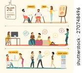 coworkers set  | Shutterstock .eps vector #270748496