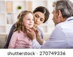 pediatrician doctor examining...   Shutterstock . vector #270749336