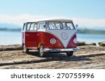 miniature vw bulli 1962 on the... | Shutterstock . vector #270755996