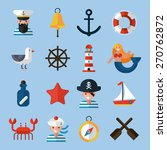 nautical icons set with sailor... | Shutterstock .eps vector #270762872