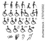 set of disability people... | Shutterstock .eps vector #270765302
