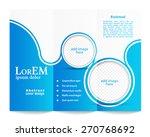 tri fold brochure template | Shutterstock .eps vector #270768692