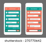 vector phone chat interface.... | Shutterstock .eps vector #270770642