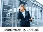 successful businesswoman or... | Shutterstock . vector #270771206