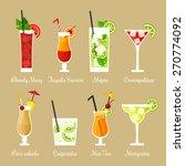 vector illustration of eight... | Shutterstock .eps vector #270774092