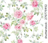 watercolor english roses...   Shutterstock . vector #270775952