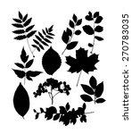 set of black leaf templates.... | Shutterstock .eps vector #270783035