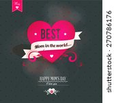 mothers's day greeting card  | Shutterstock .eps vector #270786176