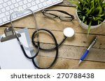 stethoscope with clipboard and... | Shutterstock . vector #270788438