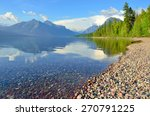 Mountains And Mcdonald Lake In...