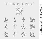business thin line icon set for ...   Shutterstock .eps vector #270791678