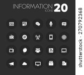 simple thin information icons...