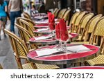 montmartre restaurant with... | Shutterstock . vector #270793172