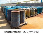 several barrels of toxic waste... | Shutterstock . vector #270794642