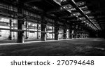 Dark Industrial Interior Of An...