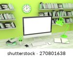 3d illustration pc screen on... | Shutterstock . vector #270801638