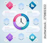 infographic. time management... | Shutterstock .eps vector #270802322