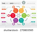 futuristic interface concept on ... | Shutterstock .eps vector #270803585