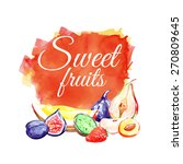 watercolor banners with fruits... | Shutterstock .eps vector #270809645