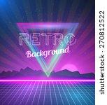 illustration of retro disco 80s ...   Shutterstock .eps vector #270812522