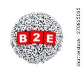 3d rendering of b2e cubes boxes ...   Shutterstock . vector #270825035