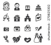 wedding icon | Shutterstock .eps vector #270825302