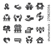 charity silhouette icons | Shutterstock .eps vector #270825356