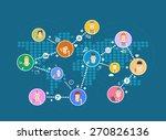 social network | Shutterstock .eps vector #270826136