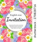 english rose. romantic... | Shutterstock .eps vector #270828716