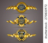 set of luxury gold badges with... | Shutterstock .eps vector #270833972