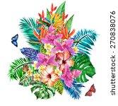 magnificent bouquet of... | Shutterstock . vector #270838076