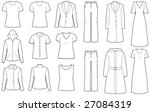 Womens Clothes Isolated