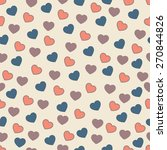 cute simple vector seamless... | Shutterstock .eps vector #270844826