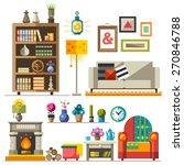 home furniture. interior design.... | Shutterstock .eps vector #270846788
