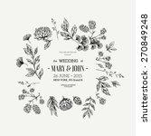 classic floral vintage wedding... | Shutterstock .eps vector #270849248