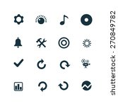 set of audio icons on white... | Shutterstock . vector #270849782