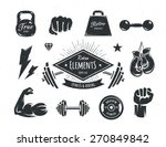 set of retro styled fitness... | Shutterstock .eps vector #270849842