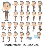 set of various poses of  double ... | Shutterstock .eps vector #270855926