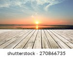 Wooden Pier With Sunset...