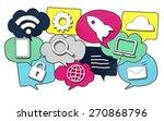 media communication technology... | Shutterstock . vector #270868796