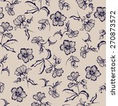 seamless floral pattern with... | Shutterstock . vector #270873572