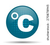 celsius blue glossy web icon  | Shutterstock . vector #270878945