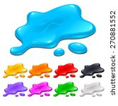 spots in different colors.... | Shutterstock .eps vector #270881552
