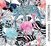 flamingo  leopard and...   Shutterstock .eps vector #270882296