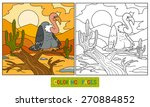 coloring book  vulture  | Shutterstock .eps vector #270884852