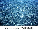 reflection on sea water | Shutterstock . vector #27088930